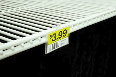 Label Holder for Wire Freezer/Cooler Shelf - Pack of 50