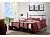 EX DEMO. 4ft6 double size Metal bed frame, bedstead. Black traditional style