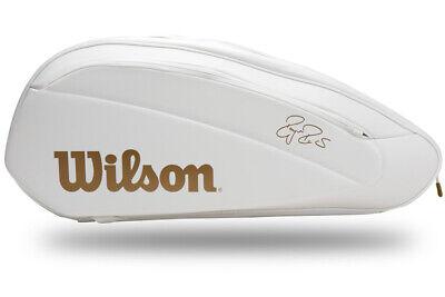 Wilson Federer DNA 12 Pack Tennis Backpack Racquet Racket White WR8004401001