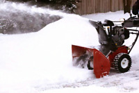Snow blowing, clearing, removal