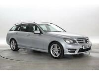 2013 (13 Reg) Mercedes C220 2.2 CDi BlueEFF AMG Sport Diamond Silver ESTATE DIES