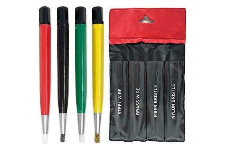 Pixiss Scratch Brush Pen Set, Fiberglass, Steel, Brass, Nylon, 5-inches Pen...