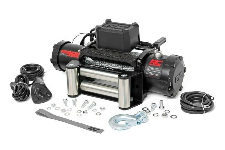 ROUGH COUNRY 9500LB PRO SERIES ELECTRIC WINCH | STEEL CABLE