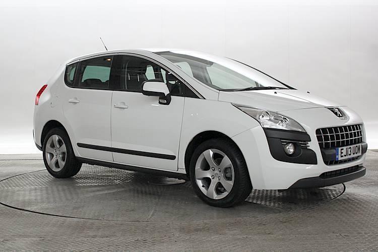 2013 (13 reg) peugeot 3008 1.6 hdi active ii white mpv diesel