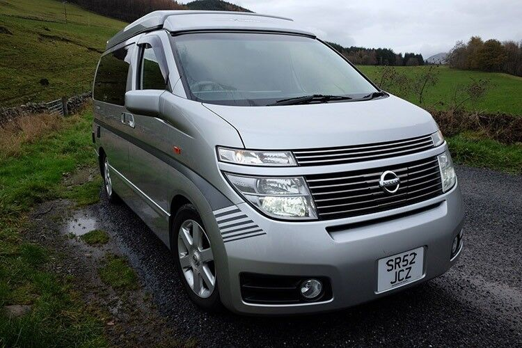 cf9a7358e5 Very low mileage immaculate 4x4 2016 2002 Nissan Elgrand camper van