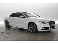 2014 (14 Reg) Audi A5 2.0 TDi 177 Quattro Black Edition S-Tronic White COUPE DIE