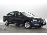 2013 (13 Reg) Volkswagen Passat 2.0 TDi 140 BlueMotion Tech Highline Night Blue