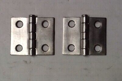 "2 Cabinet door hinges Brushed Nickel 1 1/2""x 1""  Free Shipping  A-31-6"