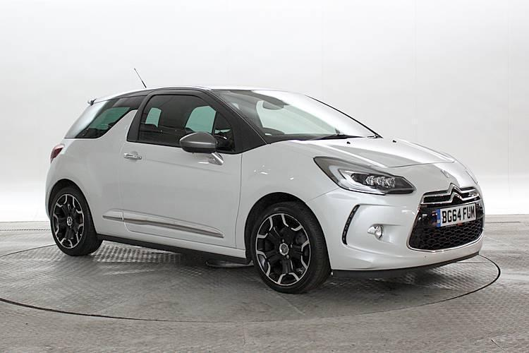 2014 64 reg citroen ds3 1 6 thp 155 dsport pearl white 3 standard petrol manua in west. Black Bedroom Furniture Sets. Home Design Ideas