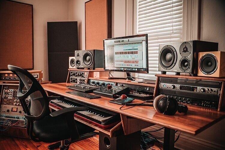 Custom Music Studio Desk