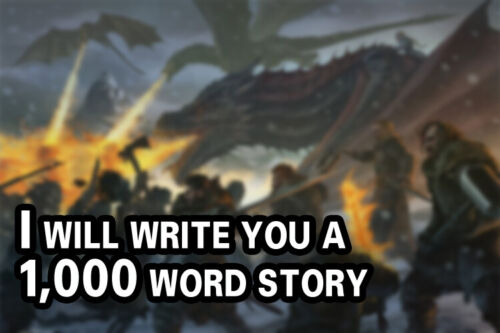 I will write a short story for you - 1,000 Word Story- Full Rights - Fiction
