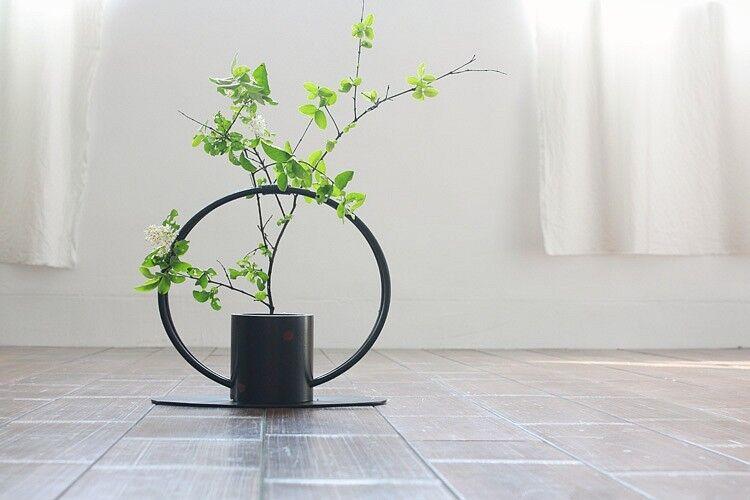 Woven ikebana flower vase  HQ-001