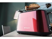 New HOTPOINT My Line TT22MDR0L Toaster 2-Slice Red Was: £59.99