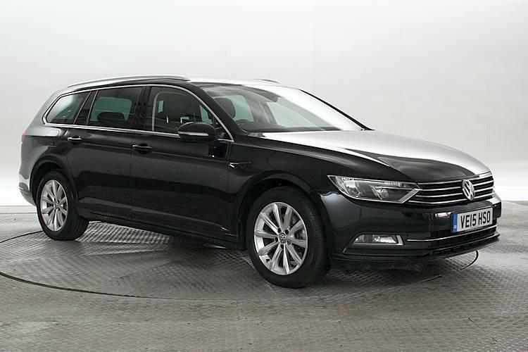 volkswagen passat 2015 black. 2015 15 reg volkswagen passat 20 tdi 150 bluemotion se business deep black es