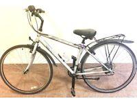 Ladies Apllo Hybrid Bike, free upright pump