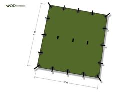 DD hammocks 3x3 olive green tarp (brand new)