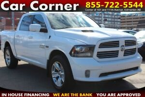 2014 Ram 1500 Sport CREW/4WD/LEATHER/BACKUP CAM/NAVI/WARRANTY!!