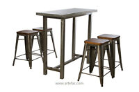 Cafe bar Table & Stools Set