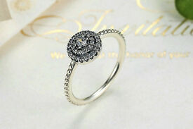 Solid 925 Sterling Silver Round Shape Radiant Elegance for Women 925 Sterling Silver Ring