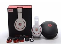 DR DRE BEATS STUDIO WIRLESS 2.0 HEADPHONES - BRAND NEW - WHITE- COMES WITH ALL ACCESSORIES!!!
