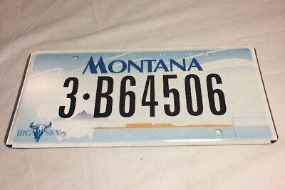 Montana 2000 License Plate 3 B64506 Big Sky Yellowstone County