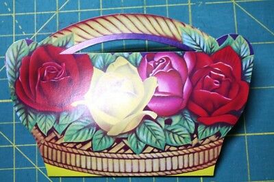 NEW Needle Card Needles Advertising Sewing Roses NEW