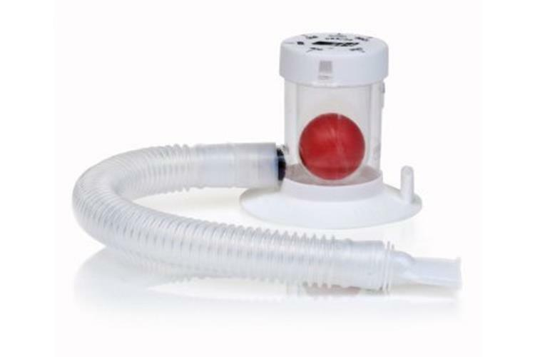 Breathing Exerciser Lung Trainer Three Ball Spirometer Rehabilitation Incentive