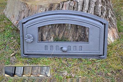 48 x 27cm Cast iron fire door clay / bread oven / pizza stove smoke house DZP08