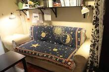 CELESTIAL rugs TAPESTRY MOON AND STAR HOME DECOR THROW BLANKET Homebush West Strathfield Area Preview
