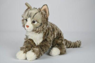 40cm Stoff Katze getigert Stofftier Plüschtier Kuscheltier Plüsch Kätzchen Kater