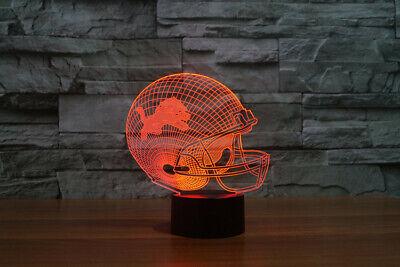 Night light 3D led optical NFL Detroit Lions football 7 color lamp desk gift