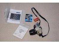 Nikon F60 film camera body and Nikon AF Nikkor 35-80mm lens