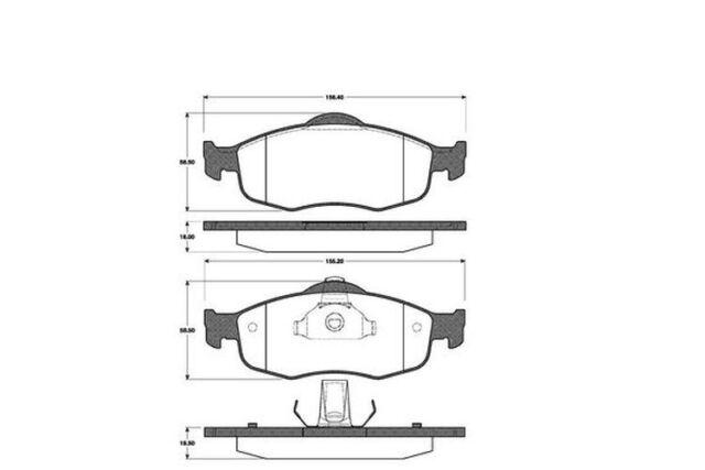 4x Bremsbeläge Bremsbelagsatz Vorne