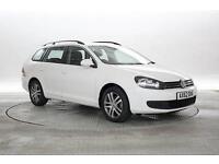 2013 (62 Reg) Volkswagen Golf 1.6 TDi 105 BlueMotion Tech SE # Candy White ESTAT