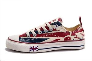CONVERSE ALL STAR BRITISH FLAG HIGH TOP OR LOW EU 35-43