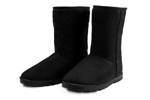 Warm Fashionable Plush Mid Calf Snow Boots in 4 Colors Women's US Sizes 5-10