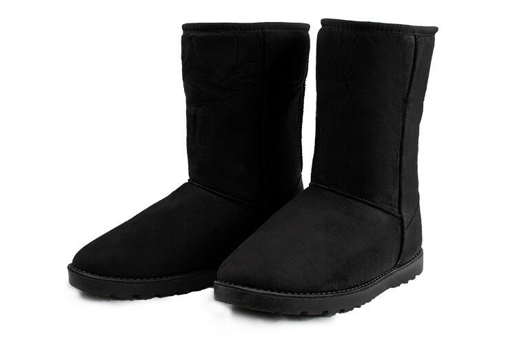 Winter Boots Women's Faux Fur Suede Mid Calf Warm Snow Fashion Plush 4 Colors