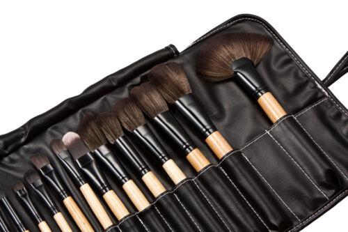 32pcs Professional Soft Cosmetic Eyebrow Shadow Makeup Brush Tool Set Kit Bag US