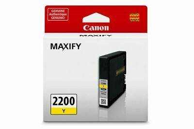 GENUINE Canon PGI-2200 Yellow Ink Tank Cartridge - SEALED Genuine Yellow Ink Tank