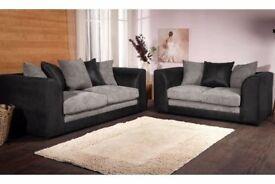 Brand-new Benson Jumbo Cord 3 and 2 Set or Corner Sofa SAME DAY DELIVERY 14-DAY MONEY BACK GUARANTEE
