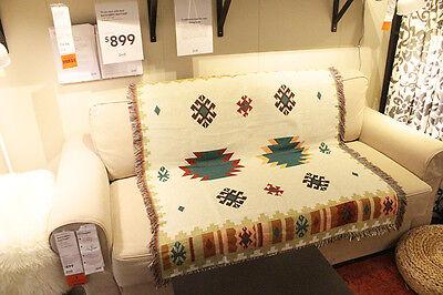 Geometric Navajo Aztec Vintage Woven Rugs Blanket Sofa throw Native american