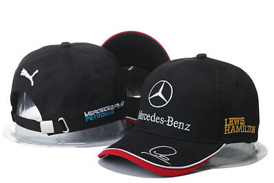 Embroidered Mercedes  Benz  Logo Amg Cap Sport Snapback Hat Outdoor Adjustable Y