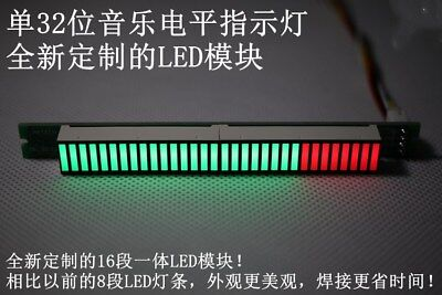 32bit Level Indicator Panel Vu Meter Mono Channel Led Finish Board