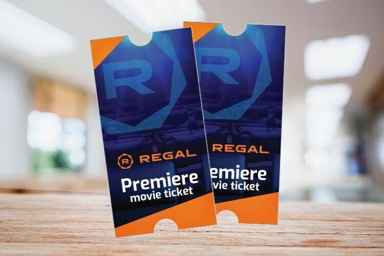 8 Regal Cinema Premiere Movie Tickets w/ PIN for E-ticket Advanced Reservations