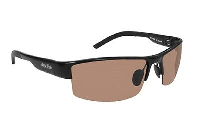 Ugly Fish Polarised Photochromic Sunglasses Zodiac Shiny Black With Brown Lens
