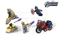 Captain America and two aliens plus vehicles