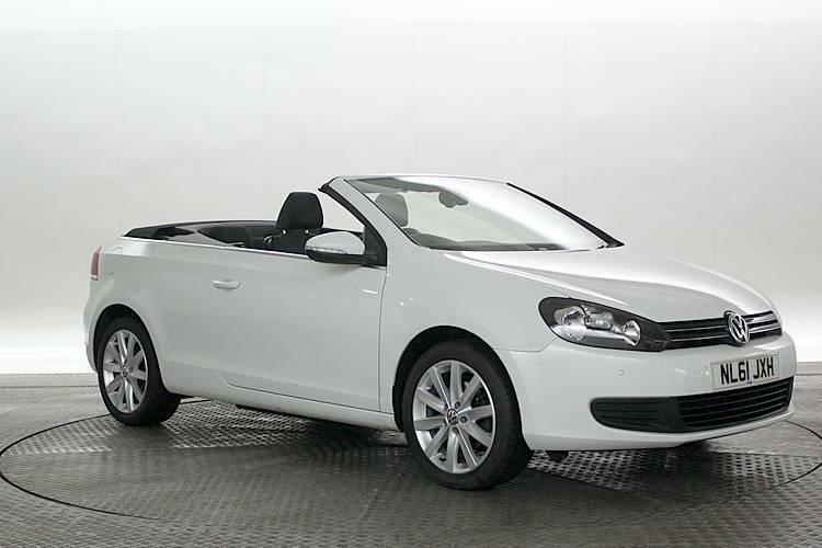 2011 61 reg volkswagen golf 1 6 tdi 105 bluemotion tech se white convertible d in west. Black Bedroom Furniture Sets. Home Design Ideas