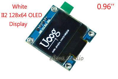 White 0.96 I2c Iic 128x64 Oled Lcd Led Display Module Board Ssd1306 For Arduino