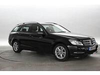 2013 (13 Reg) Mercedes C220 2.2 CDi BlueEFF Executive SE Black ESTATE DIESEL AUT