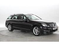 2013 (13 Reg) Mercedes C220 2.2 CDi BlueEFF AMG Sport Met Black ESTATE DIESEL MA